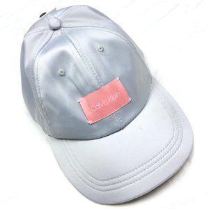 NWT Calvin Klein Silver Baseball Cap